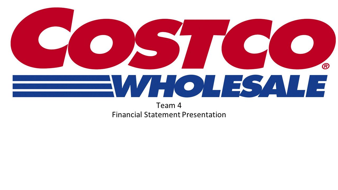 costco wholesale financial statements