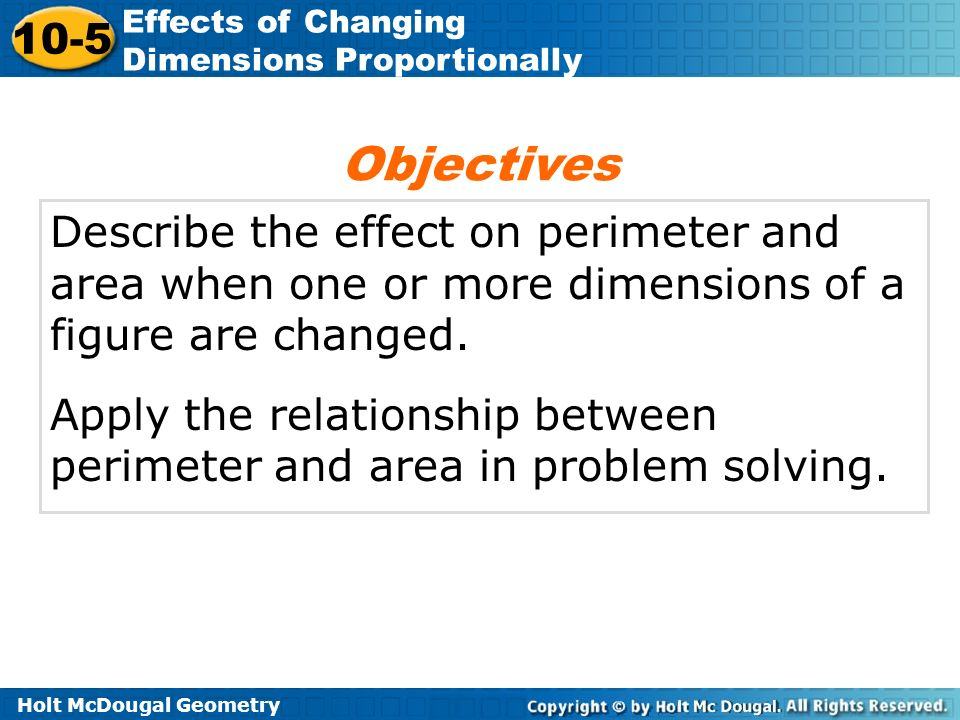 9-5 effects of changing dimensions proportionally problem solving answers