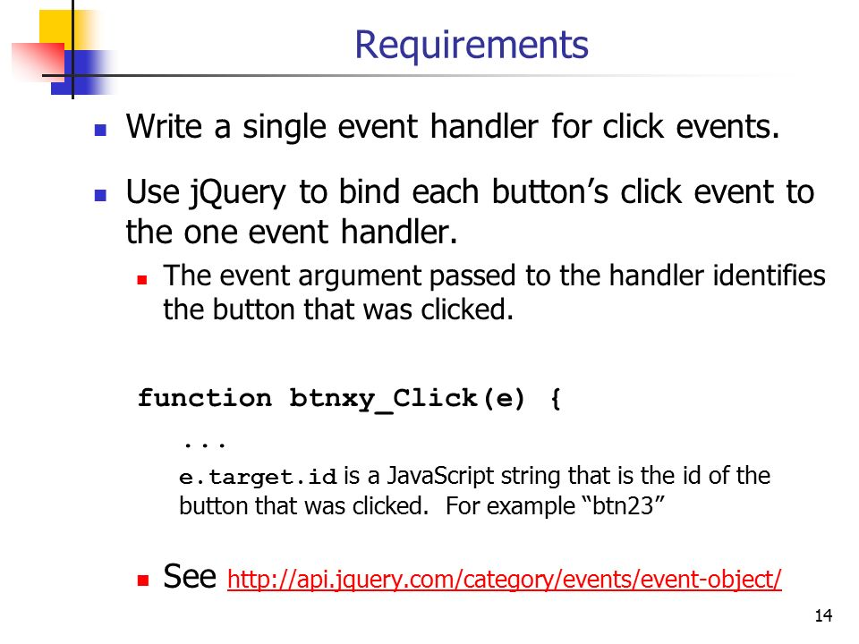 1 Project 8: Tic Tac Toe  2 Assignment Write an HTML and