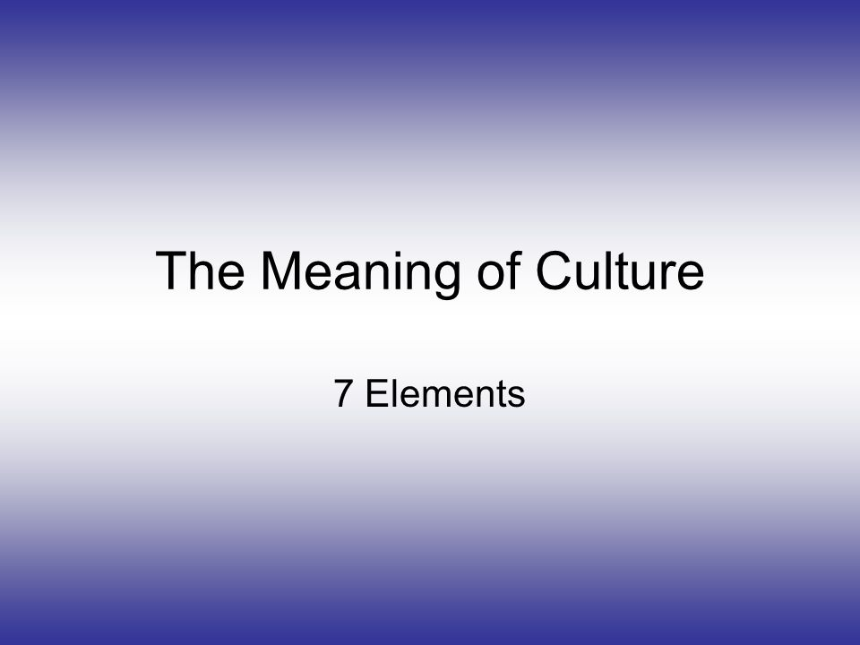 examples of culture