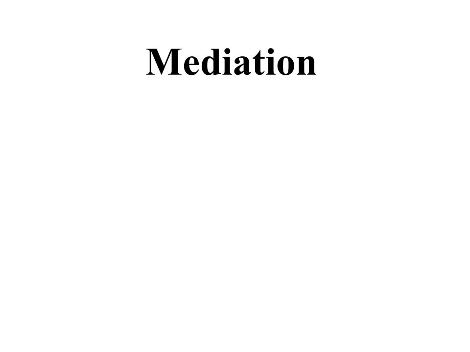 1 Mediation