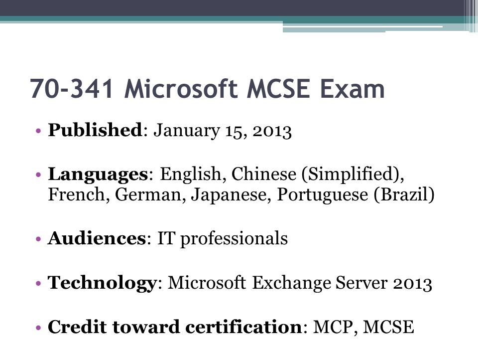 Killtest Microsoft Exam Microsoft Mcse Test Ppt Download