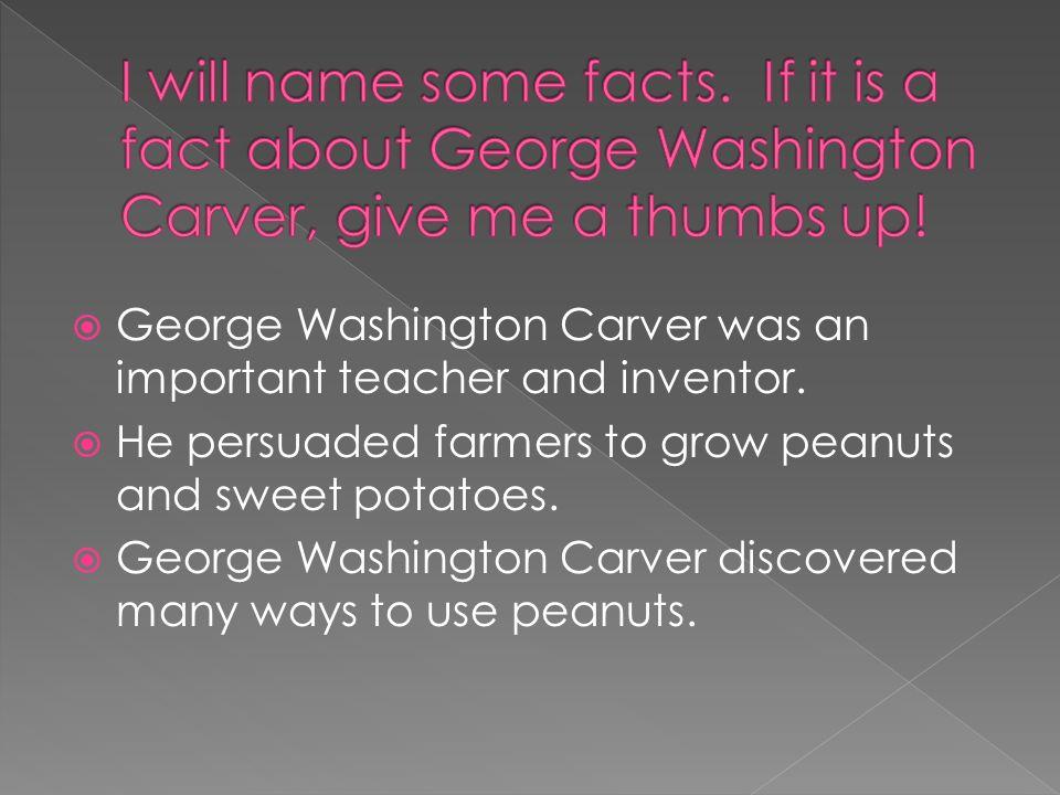 nonfiction text famous scientist named george washington carver