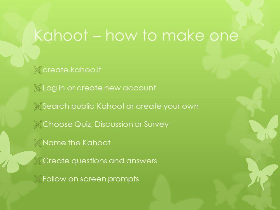 Make A Kahoot Public