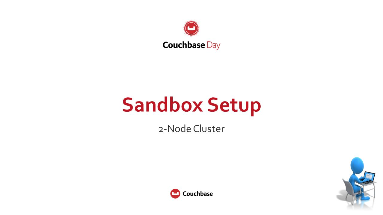 Sandbox Setup 2-Node Cluster  ©2015 Couchbase Inc  2 What are the