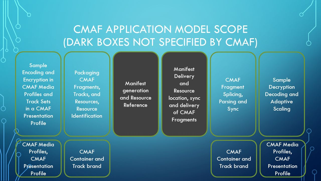 CMAF COMMON MEDIA APPLICATION FORMAT FOR INTERNET DELIVERY