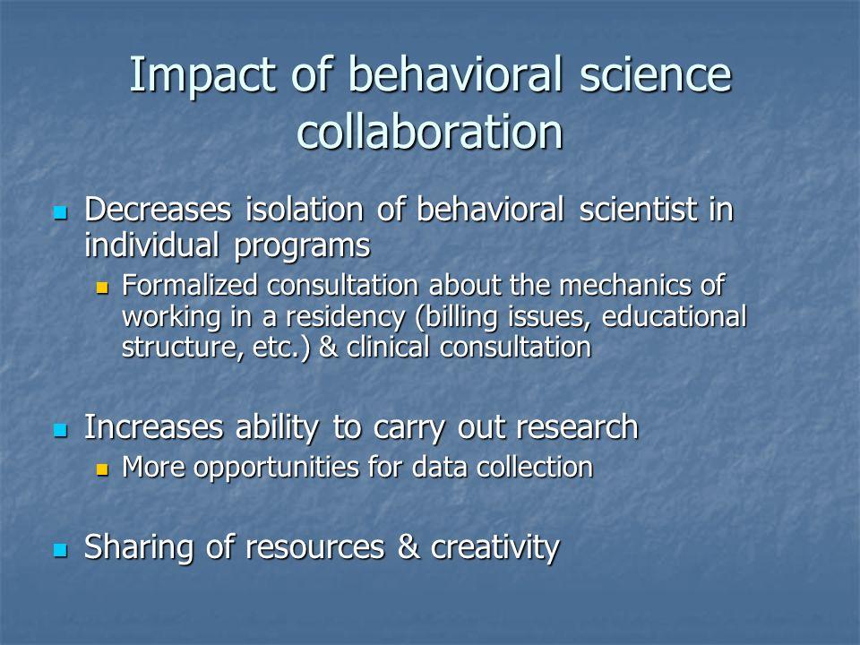 Impact Of Longitudinal Behavioral Science Curriculum On Resident