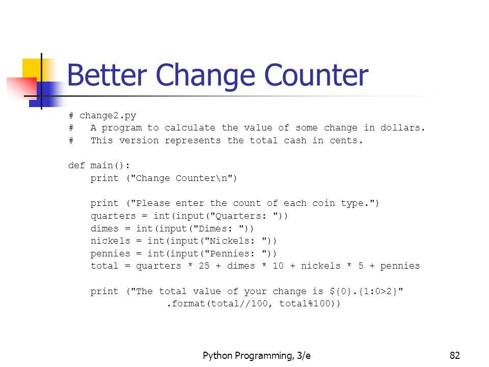 Python Programming 3 E1 Python Programming An Introduction To