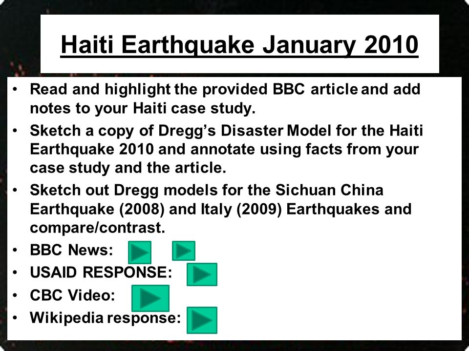 ledc earthquake case study haiti