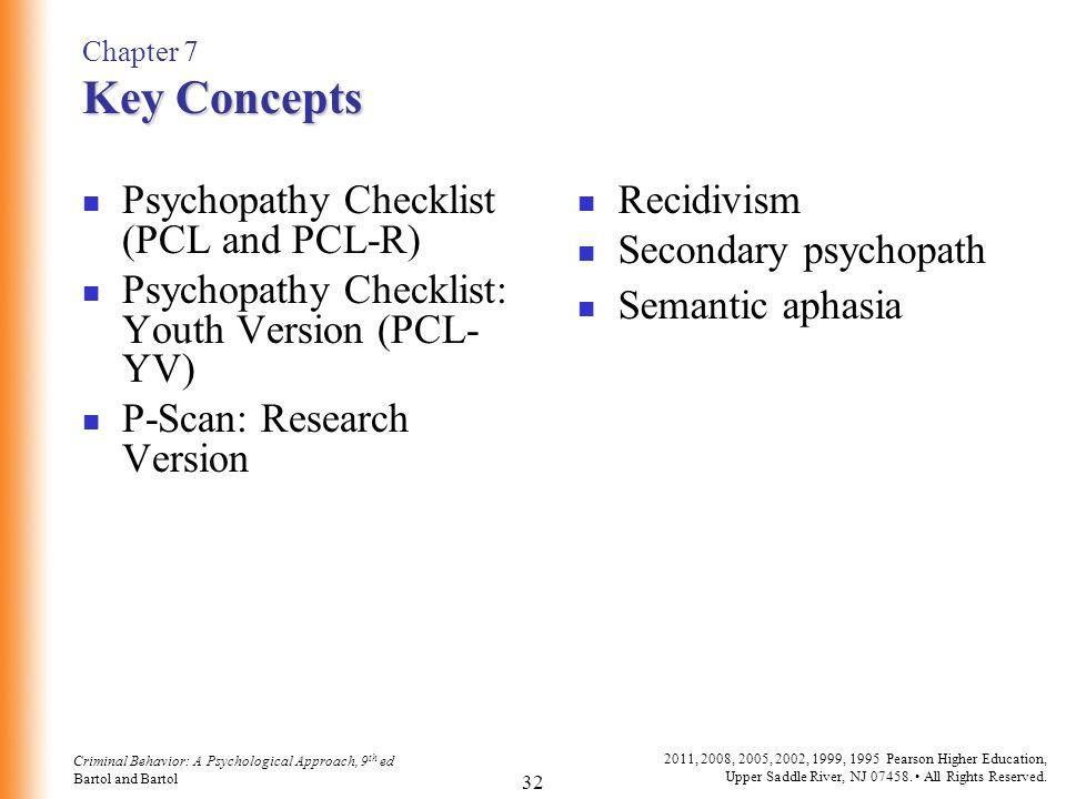 Chapter 7 Psychopathy Criminal Behavior A Psychological Approach