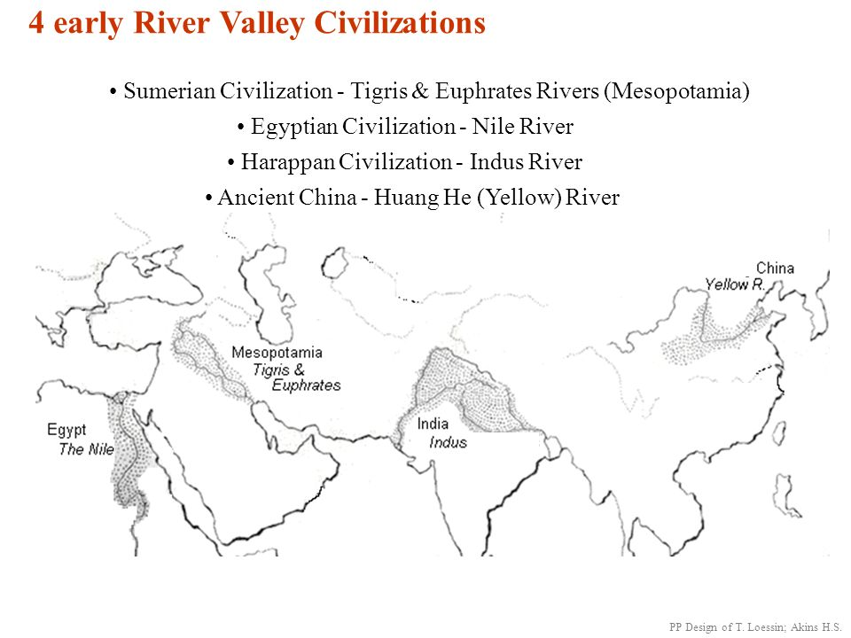 4 Early River Valley Civilizations Sumerian Civilization Tigris