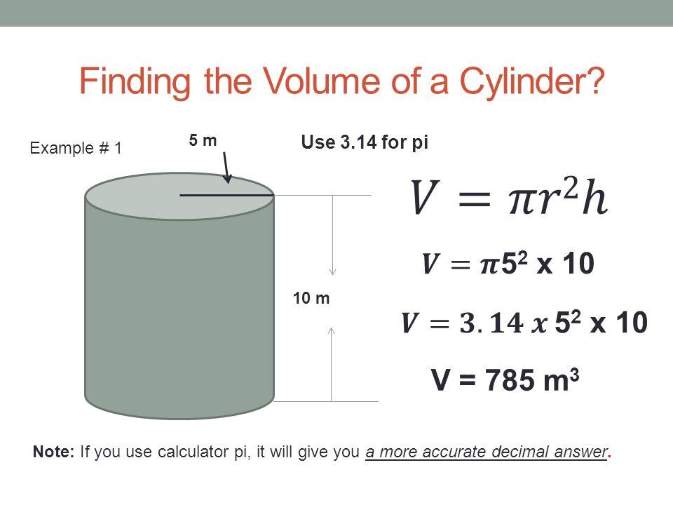Volume of a cylinder   mathhelp. Com youtube.