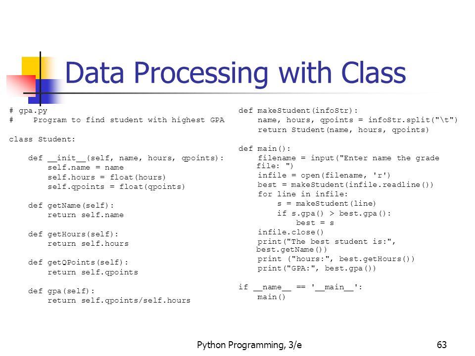 Python Programming, 3/e1 Python Programming: An Introduction