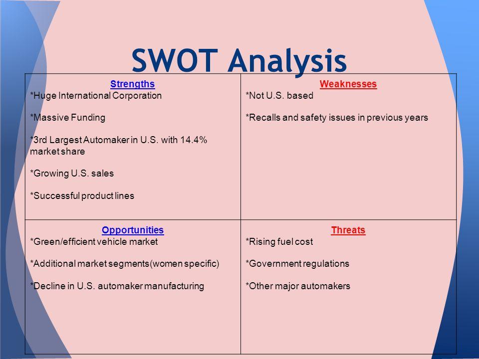 swot analysis of toyota company