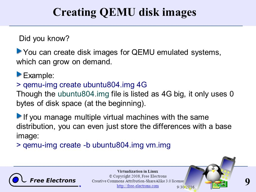 1 Virtualization in Linux © Copyright 2008, Free Electrons