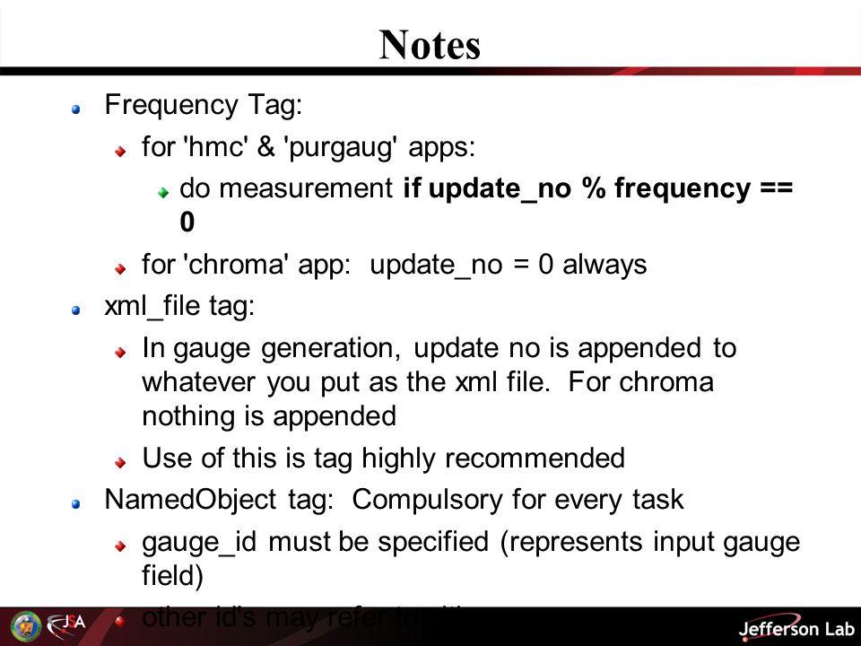 Guide To Writing Chroma XML Files Balint Joo Jefferson Lab