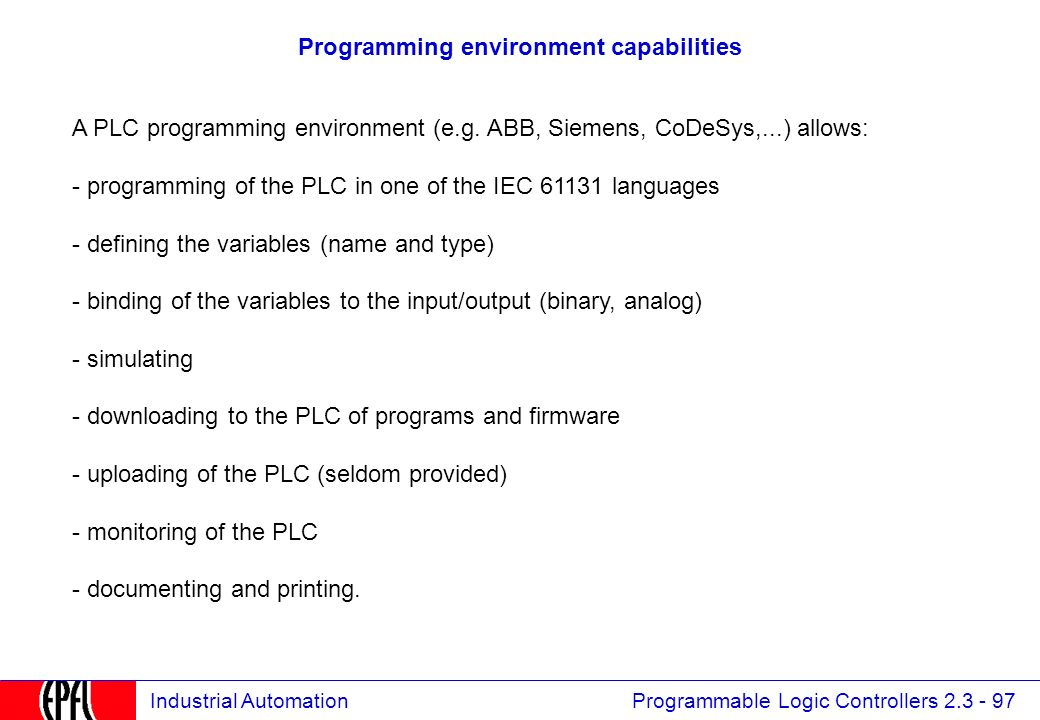 Programmable Logic Controllers 2 3Automates Programmables