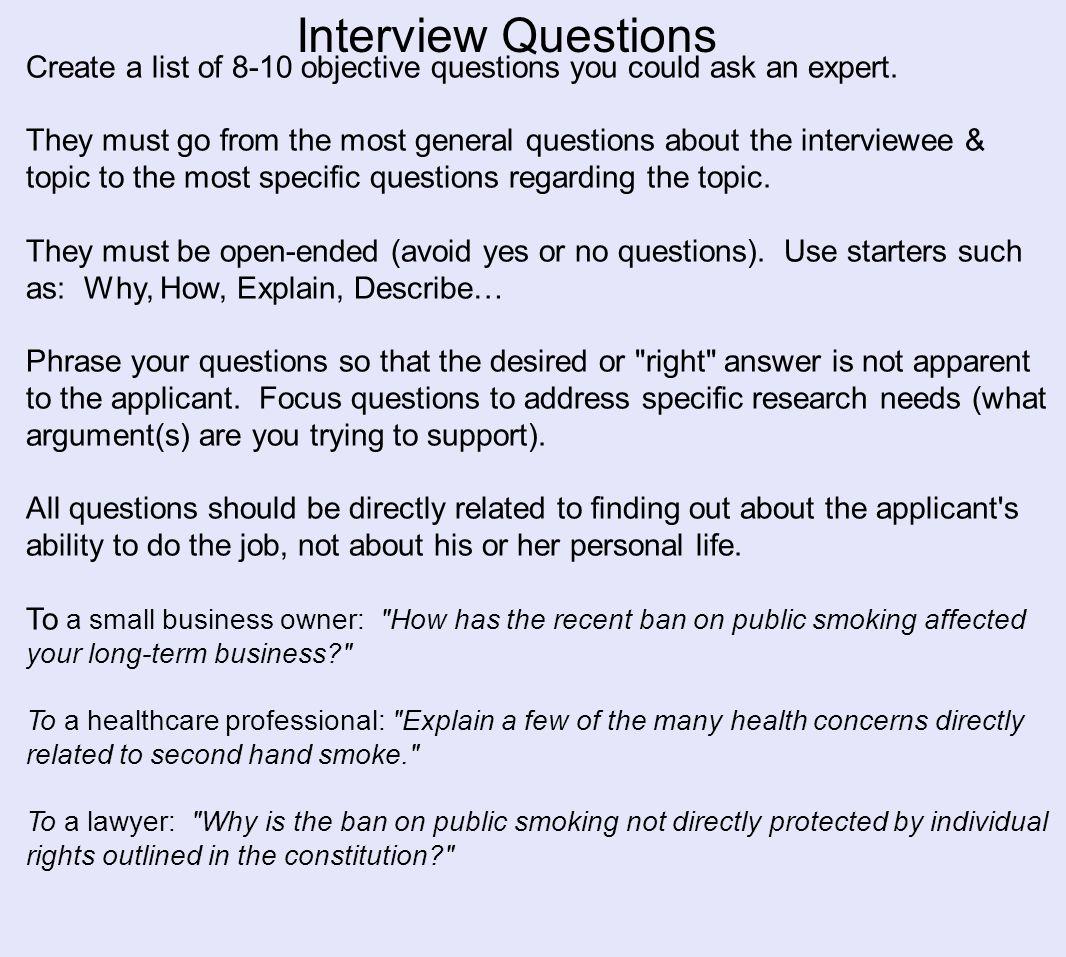 Professional Interview Interview An Expert In The Field An Expert