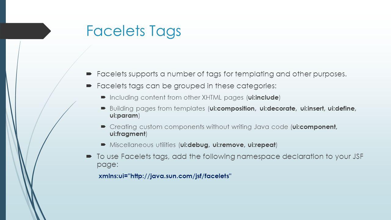 Facelets Mimi Opkins CECS493 Fall Facelets  User