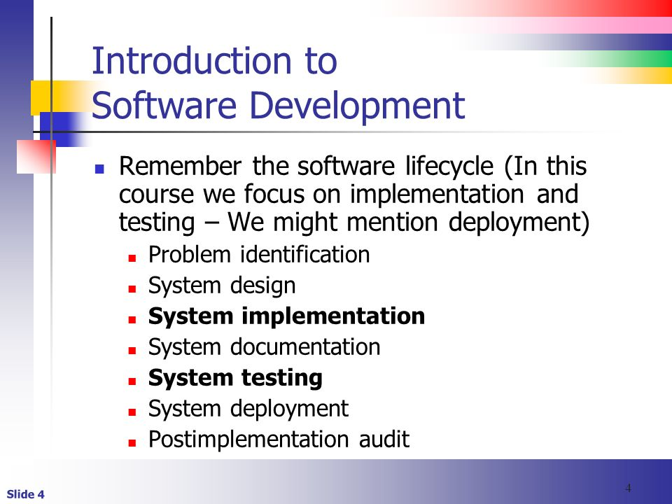 Is 350 Course Introduction Slide 2 Objectives Identify The Steps Performed In The Software Development Life Cycle Describe Selected Tools Used To Design Ppt Download