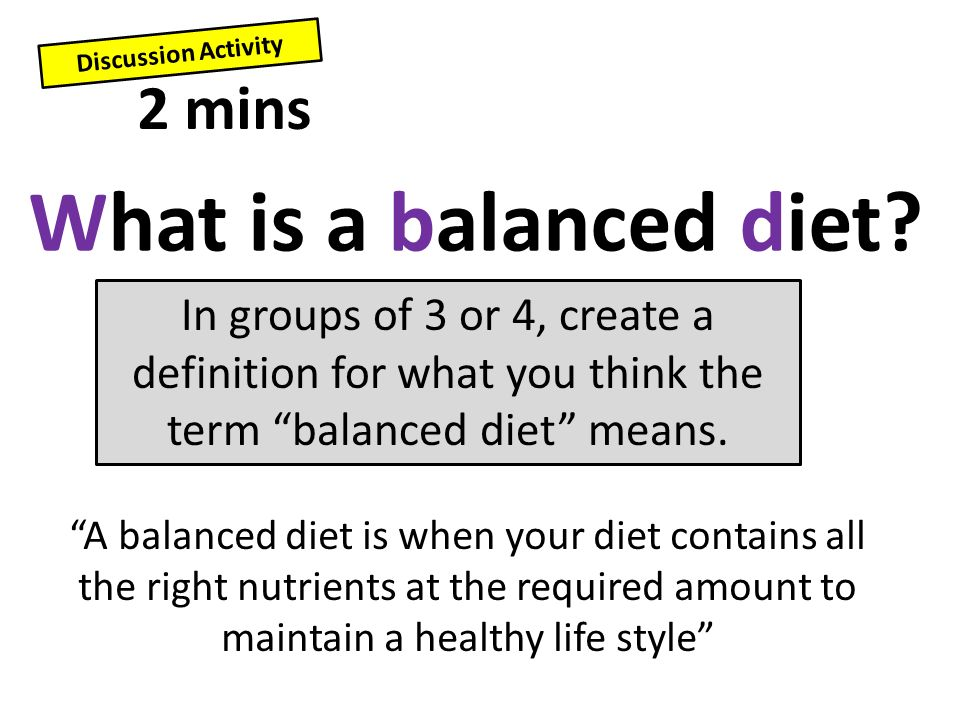 Developing Describe The Term Balanced Diet Secure Explain The