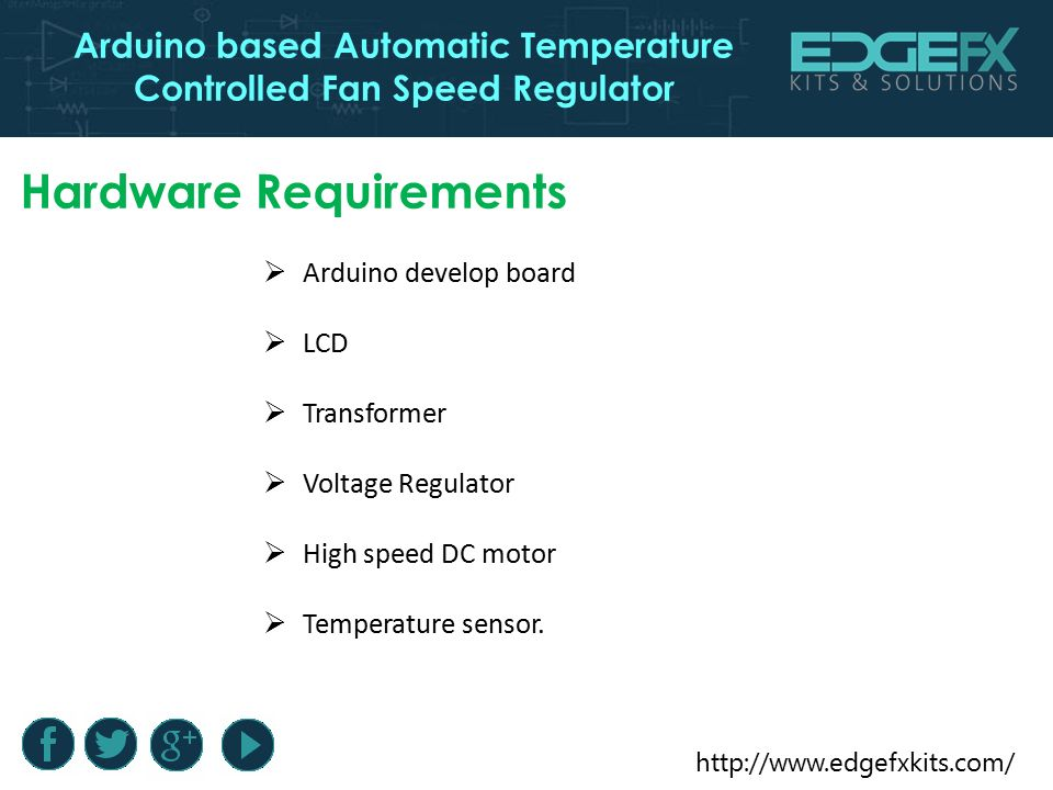 Arduino based Automatic Temperature Controlled Fan Speed Regulator