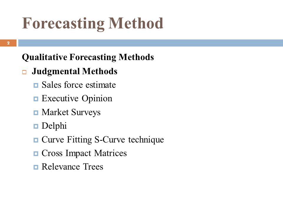 CHAPTER: 3 FORECASTING (MSC 301) MD  TAMZIDUL ISLAM FACULTY
