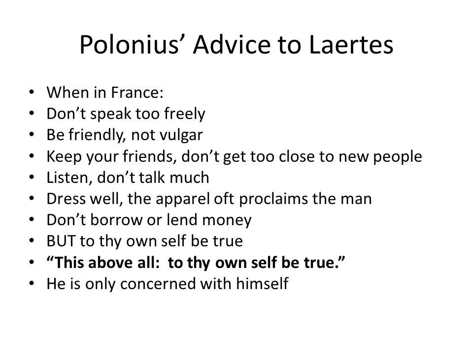 summary of polonius advice to laertes