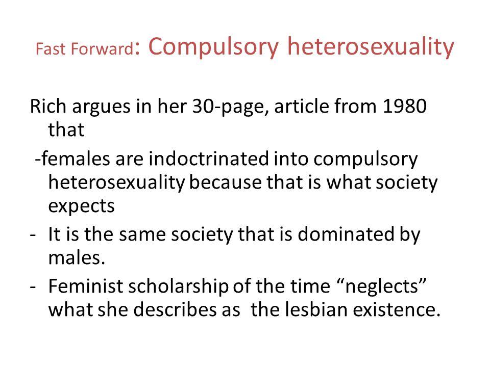 Compulsory heterosexuality butler
