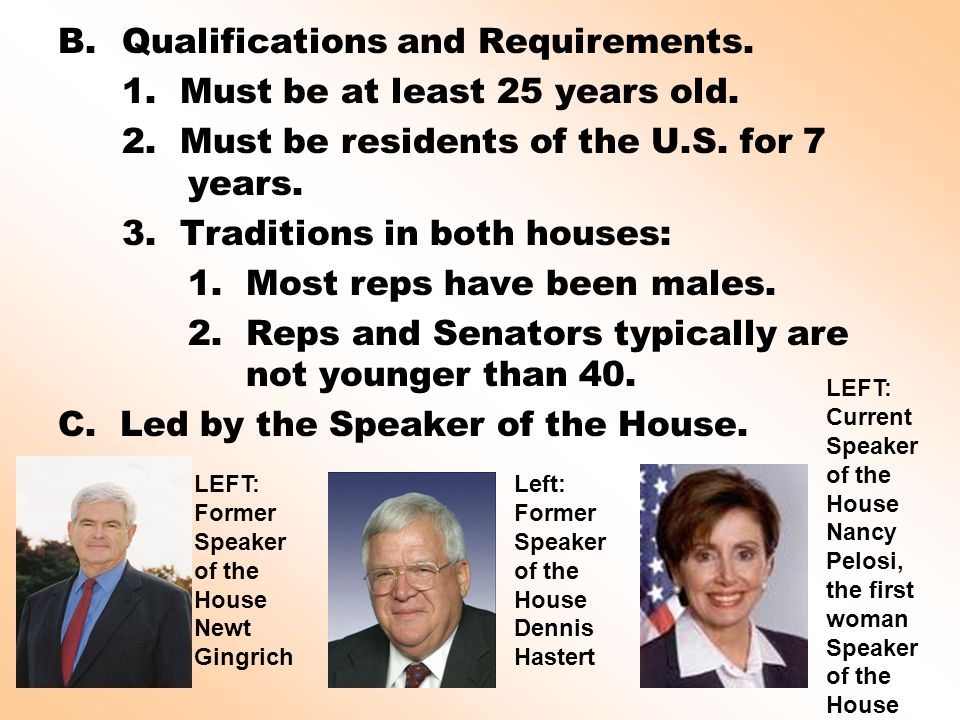 The Legislative Branch of Government: Function, Qualifications