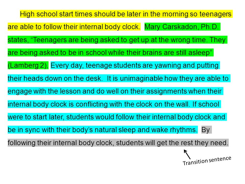 Persuasive Essay Topics High School Students High School Start Times Should Be Later In The Morning So Teenagers Are  Able To Follow Life After High School Essay also A Level English Essay Ace Paragraphs Assertion Citation Explanation Ace It Slang To  Computer Science Essays