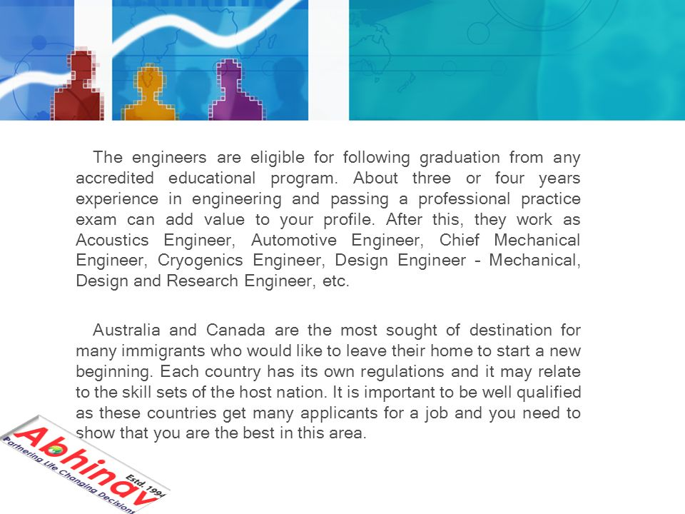 Mechanical Engineers Immigrate To Australia And Canada The Mechanical Engineers Have A High Demand In Countries Like Australia And Canada The Qualified Ppt Download