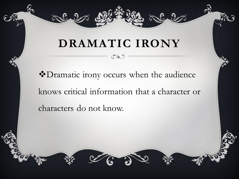situational irony definition literature