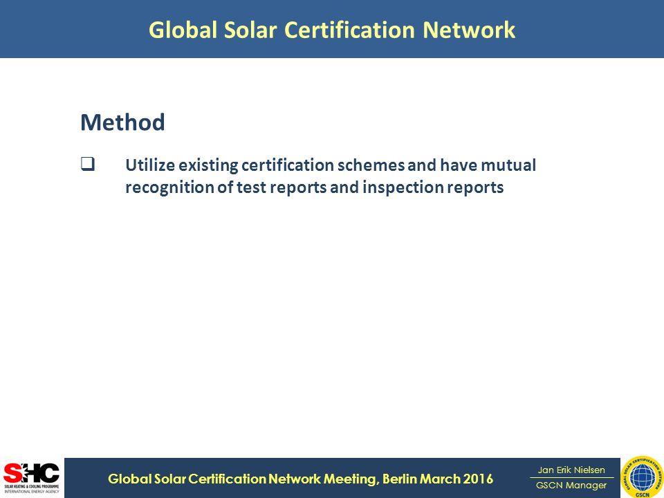 Global Solar Certification Network Global Solar Certification