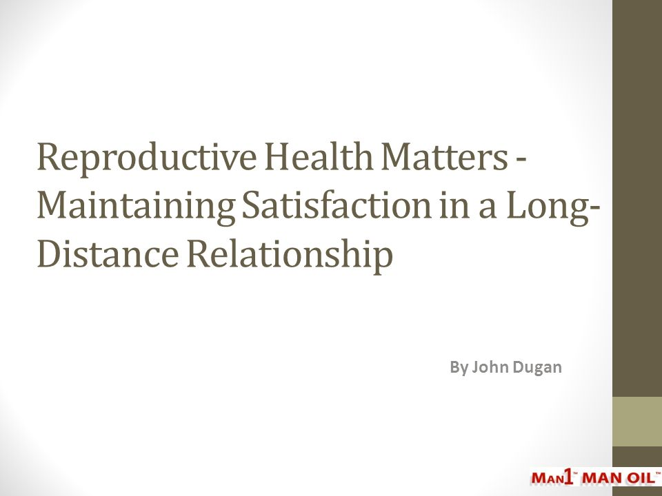 Reproductive Health Matters - Maintaining Satisfaction in a