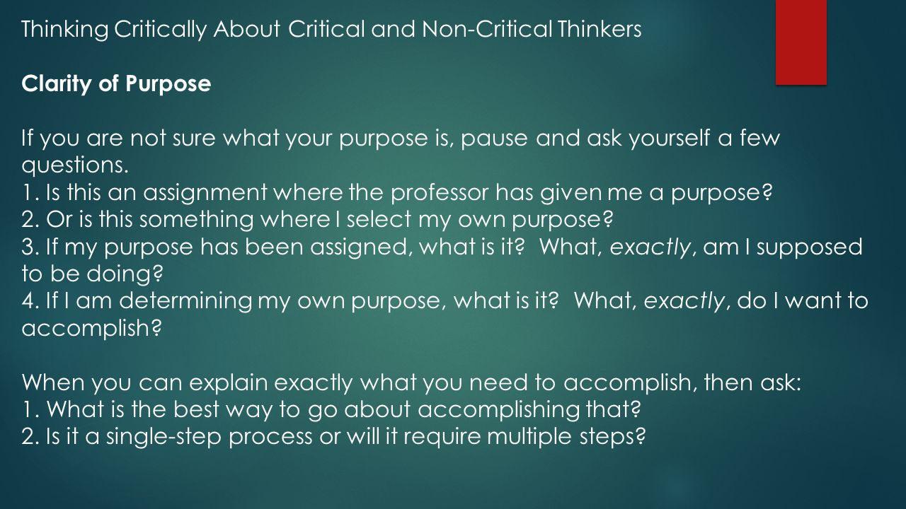what critical thinking is not