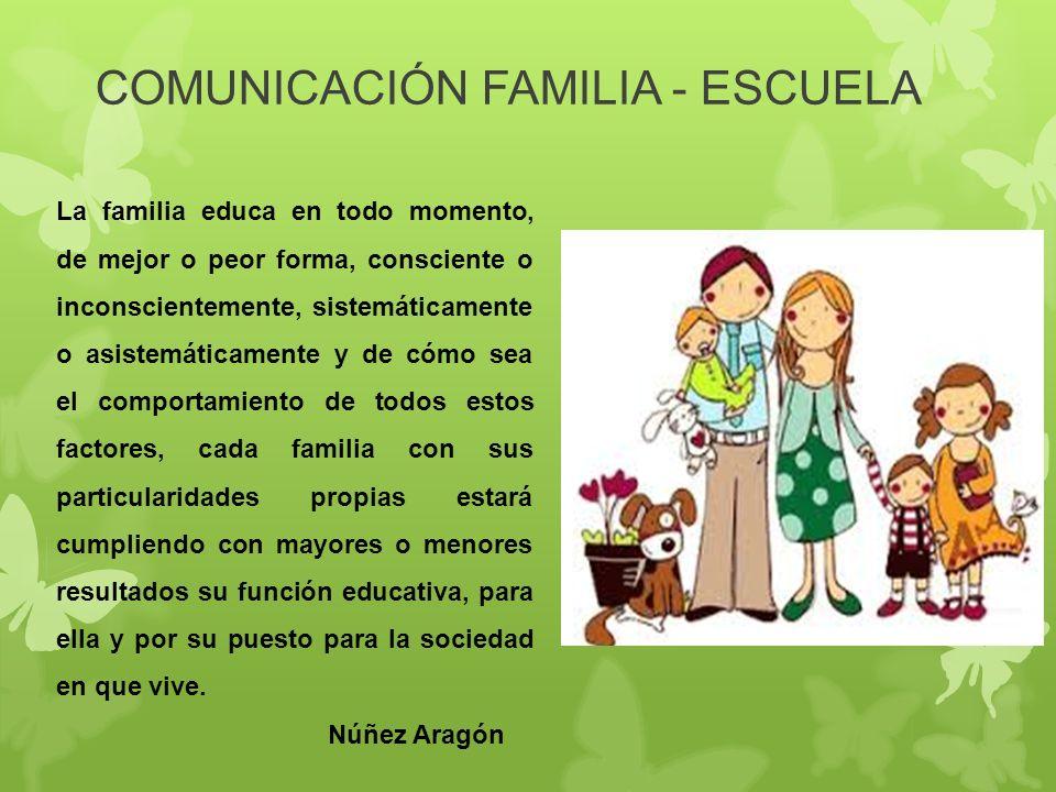Y entre escuela comunicacion familia la