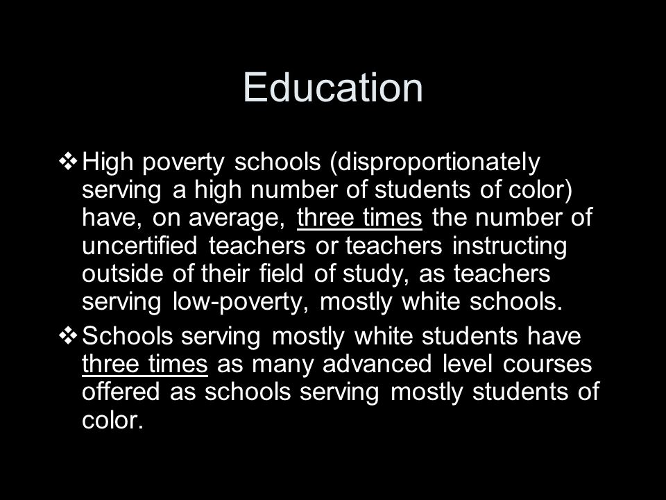 Students Of Color In Low Poverty >> Race Matters Understanding Racial And Gender Inequality Ppt Download