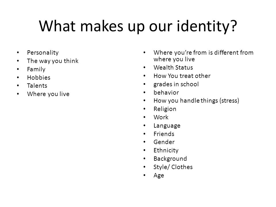 Where Im From Poem What Makes Up Our Identity Personality