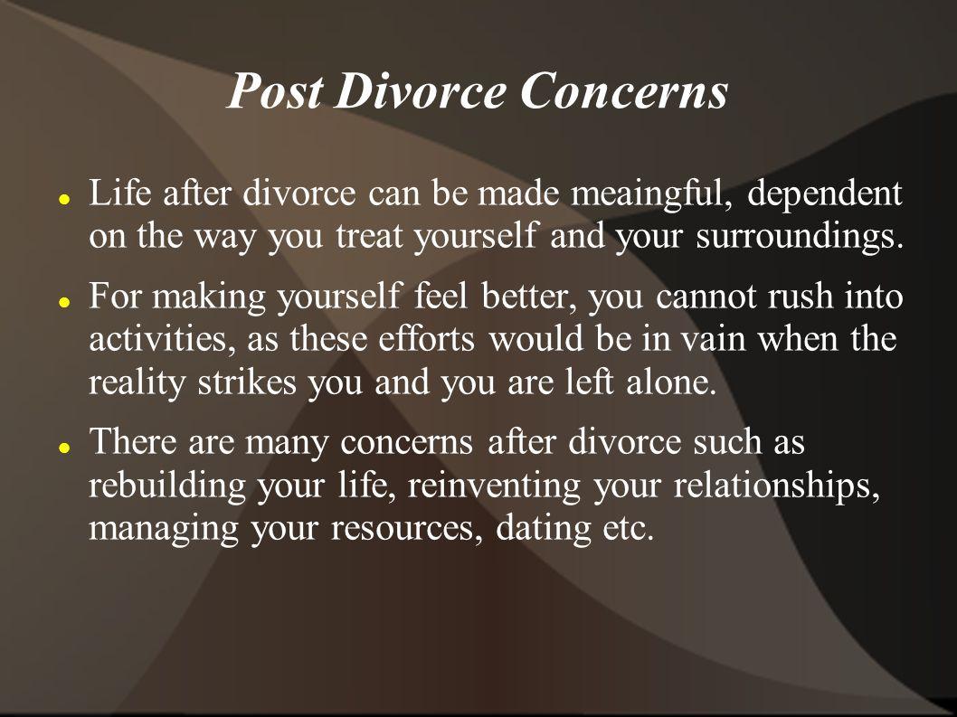 Rebuilding your life after divorce