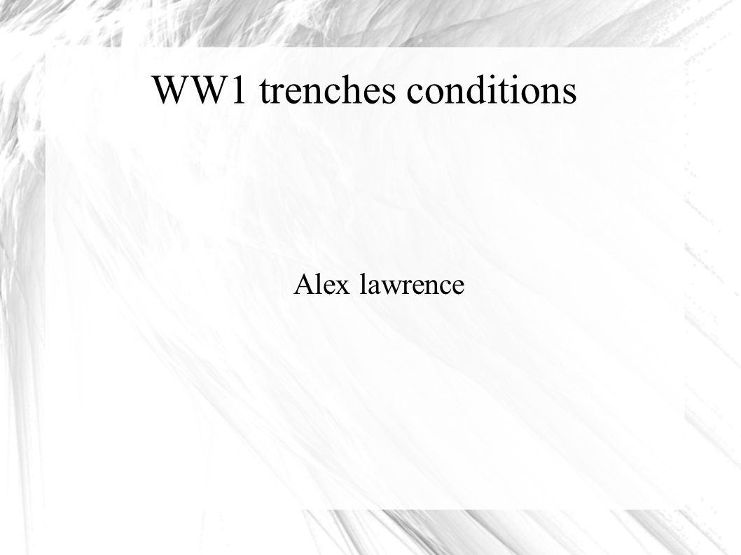 Ww1 Trenches Conditions Alex Lawrence Schlieffen Plan The Diagram Pits Behind 1