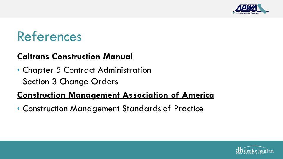change order claims management module 9 change order management rh slideplayer com caltrans construction manual 2006 caltrans construction manual 2010