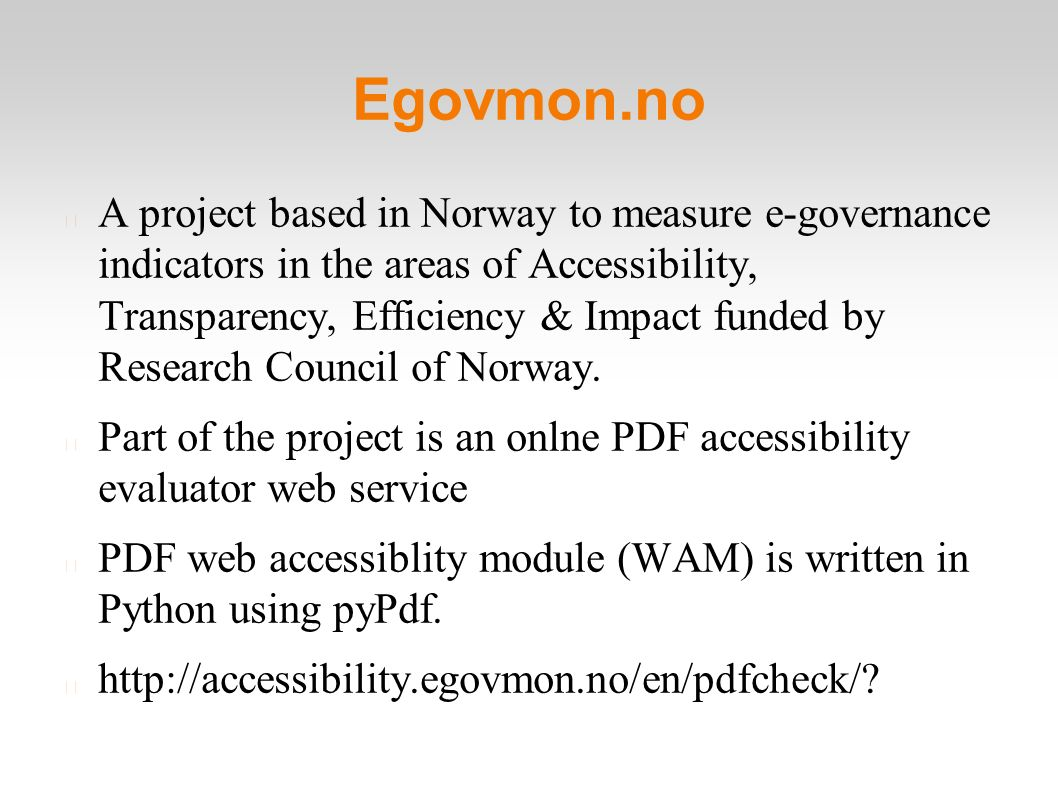 PDF Accessibility with Python Anand B Pillai  A few terms
