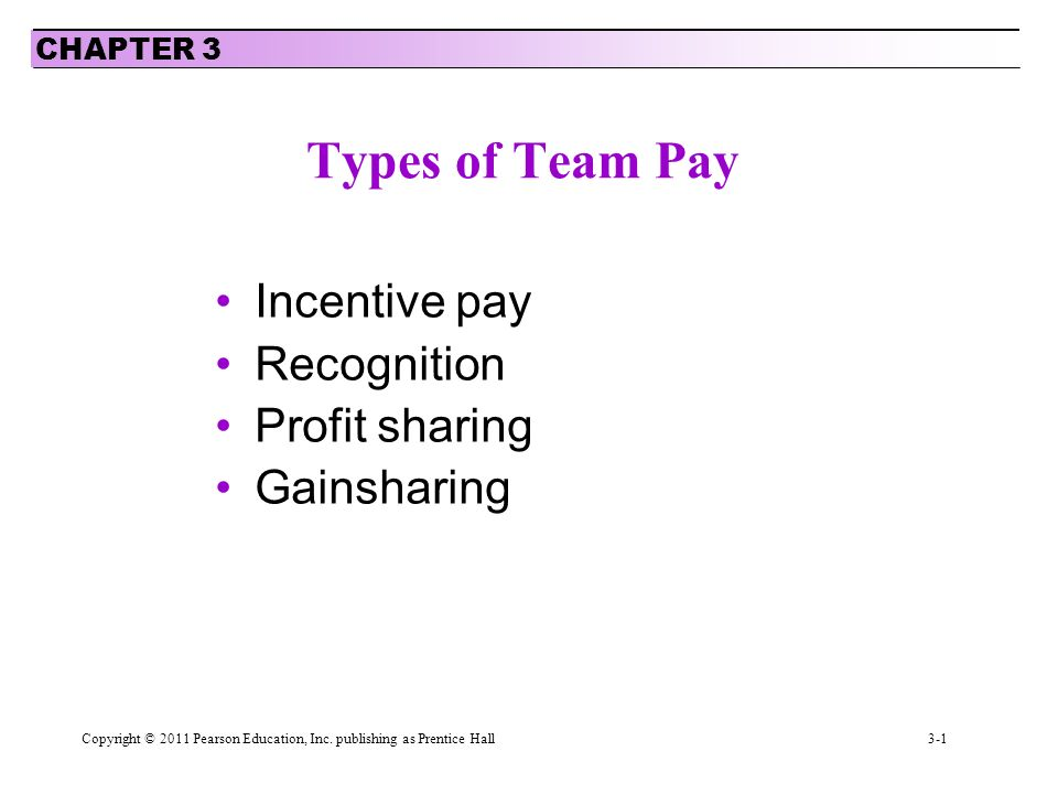 types of incentive pay
