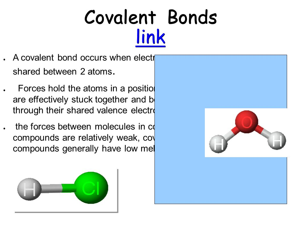 Types of chemical bonds. How to connect atoms 71