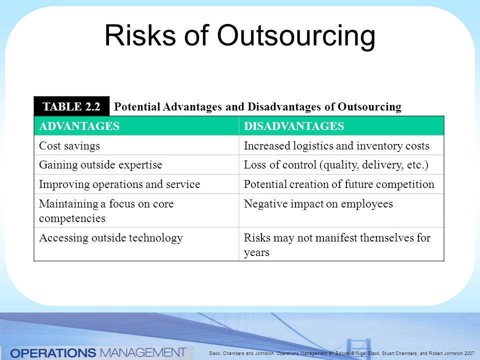 outsourcing operations management