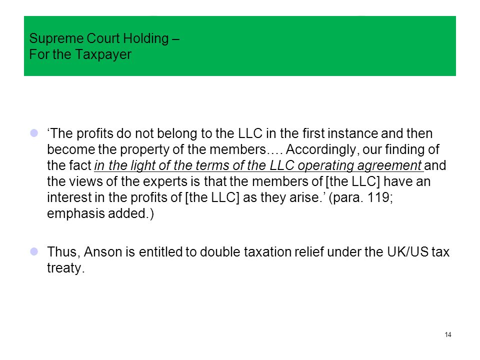 Uk Supreme Court Decisions International Tax Law And Public Interest