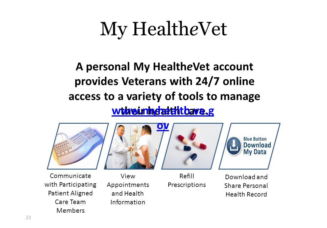 The VA Healthcare System Robert Petzel, MD Destination