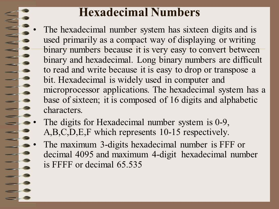 application of binary numbers