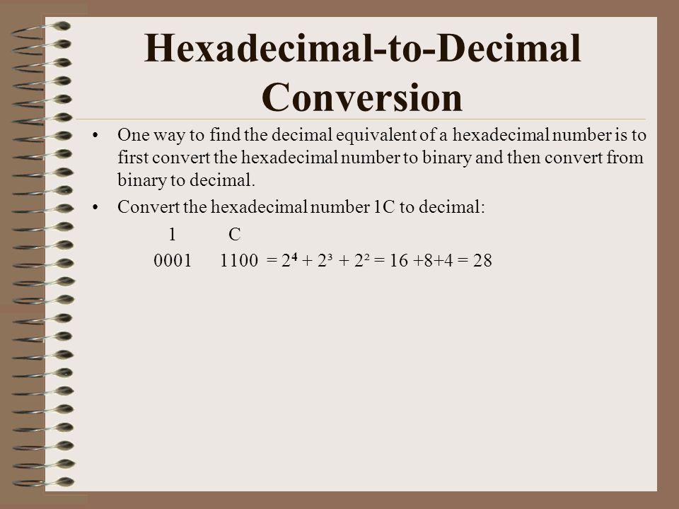 1  Binary, Decimal, Hexadecimal and Octal  2  Conversion between
